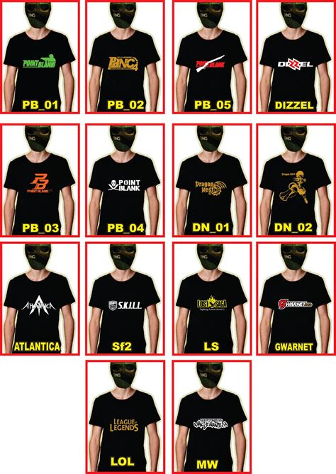 Kaos Big Size Point Blank 104 jual kaos war of clans point blank jual kaos satuan