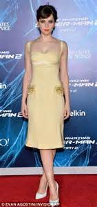 Bj Gray Line Dress reveals side at the amazing spider 2