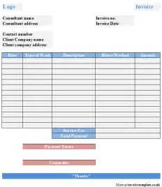 consultant template excel invoice template uk studio design gallery