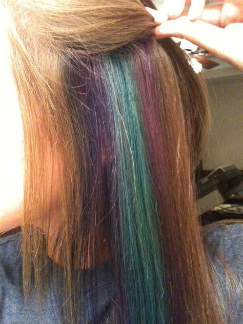 hidden peacock highlights hairnails pinterest