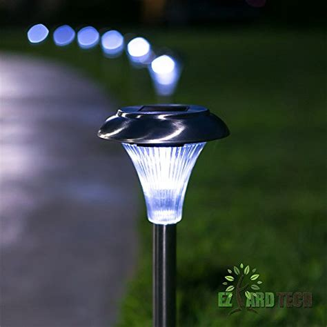 Set Of 10 6 Lumen Brightness Stainless Steel Solar Lasting Solar Lights