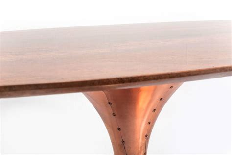 marble dining table with brass base by i retro