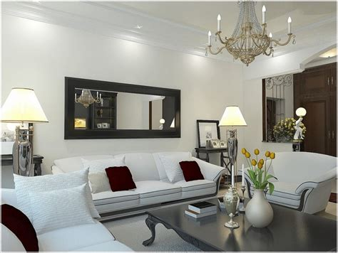 decorate  living room  black mirrors home