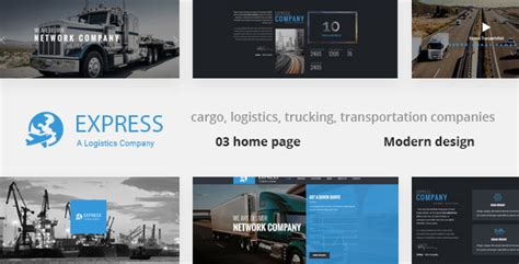 express modern transport logistics html template by