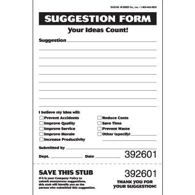 best photos of suggestion form ideas safety suggestion