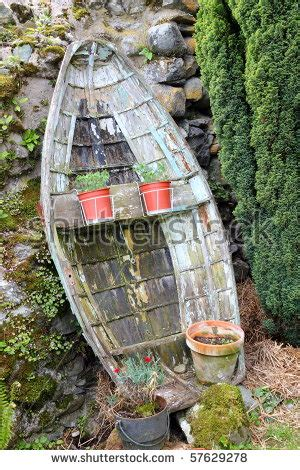 Garden Decoration Boat by Small And Wooden Boat Used In A Garden For Decorations