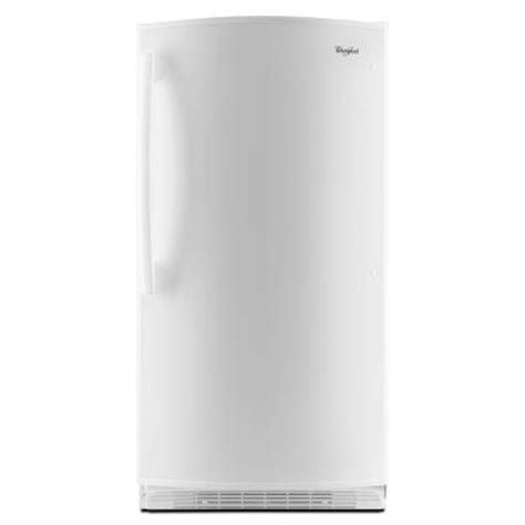 whirlpool 15 8 cu ft free upright freezer in white