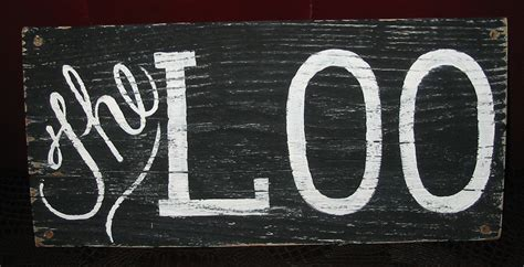 the loo vintage style english bathroom sign by