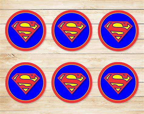 Cupcake Topper Superman 5 superman cupcake toppers printable www imgkid the image kid has it