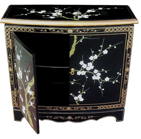 chinese black lacquer cabinet hand painted blossom 2 door cabinet welcome to grand