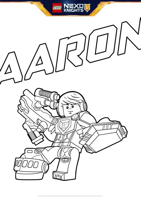 nexo knights coloring pages aaron aaron with shield coloring pages lego 174 nexo knights