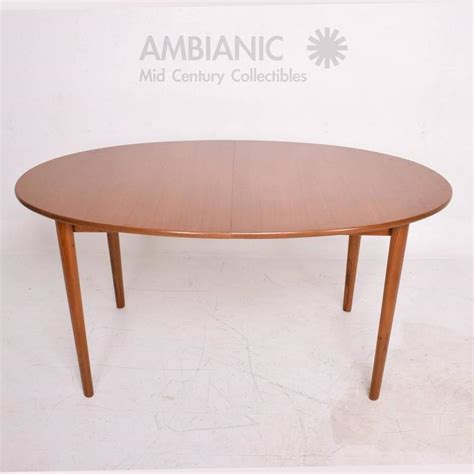Dining Table Oval Shape Modern Teak Dining Table Oval Shape With Extensions For Sale At 1stdibs