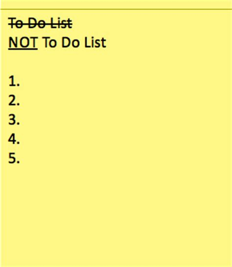 how to your not to how s your not to do list