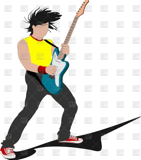 rockstar clipart rockstar with guitar royalty free vector clip