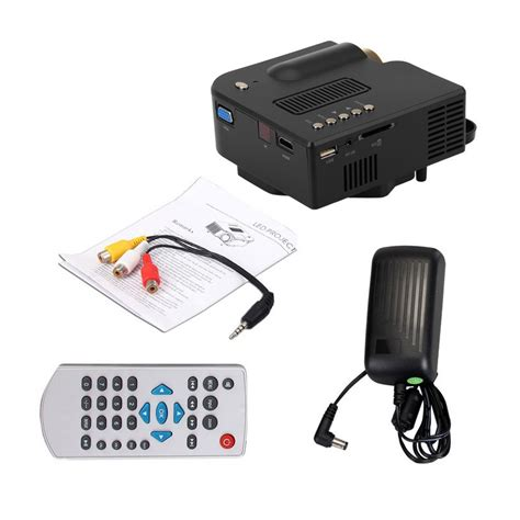 Mini Projector Uc28 uc28 mini multimedia led projector home cinema av vga sd