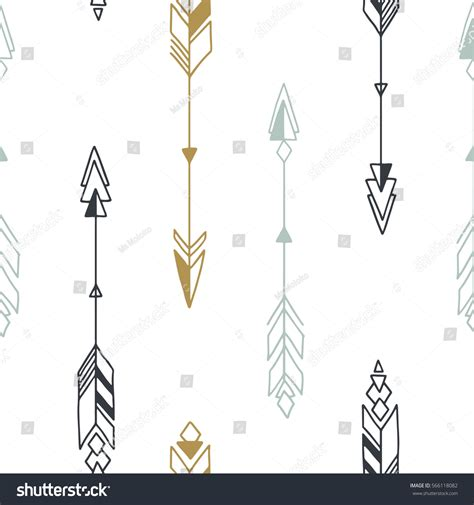 hand drawn seamless arrow pattern stock vector seamless hand drawn geometric tribal pattern stock vector