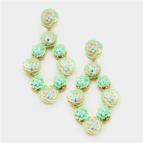 Sequin Earring sequin flower earrings