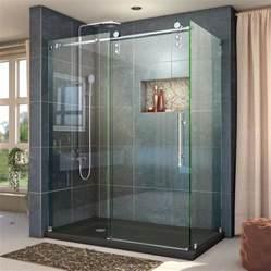 48 Frameless Sliding Shower Door Shop Dreamline Enigma Z 44 375 In To 48 375 In Frameless Polished Stainless Steel Sliding Shower