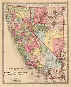 map of california and nevada map of nevada and california 1872 barry