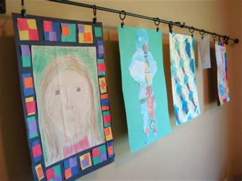 art display ideas kids artwork display it in style