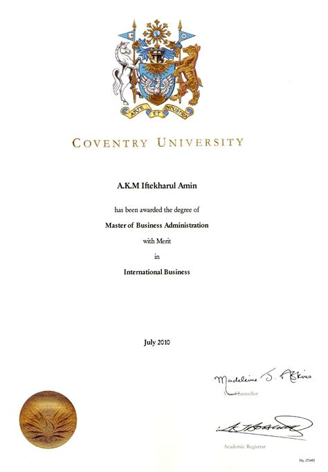 Coventry Mba Coventry Cus by A K M Iftekharul Amin Bayt