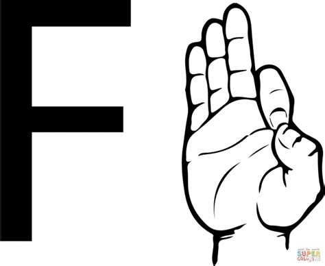 asl alphabet coloring pages the brilliant and beautiful sign language letter f 2017