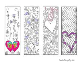 coloring bookmarks diy bookmark printable coloring page zentangle inspired