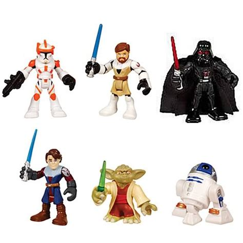 Figure Set Rubber Wars Kw wars jedi single mini figures wave 1