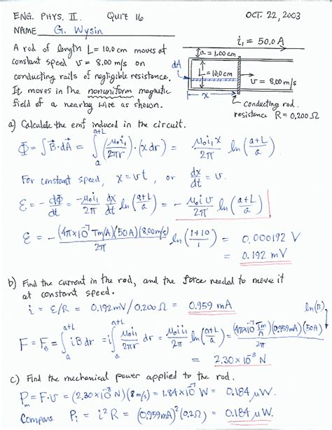 electromagnetic induction all formula oct 22 quiz 16 electromagnetic induction in a moving rod quiz 16 images frompo