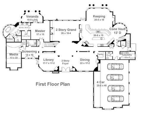 house plan with front kitchen normandy manor house plan bellenden manor 6133 5 bedrooms and 5 5 baths the