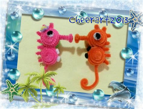 How To Make A Seahorse Out Of A Paper Plate - diy craft tutorial pipe cleaner seahorse手工教學 毛根海馬