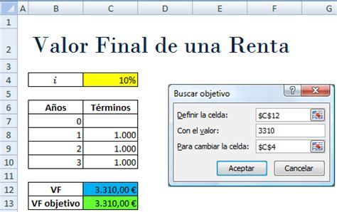 como calcular inpc a una renta excelavanzado com solver y buscar objetivo para calcular