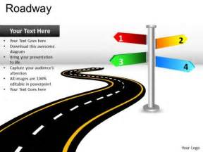 powerpoint template road road directions powerpoint slides and ppt diagram