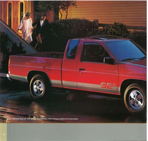 nissan hardbody 1987 nissan hardbody truck d21 dealer brochure us market