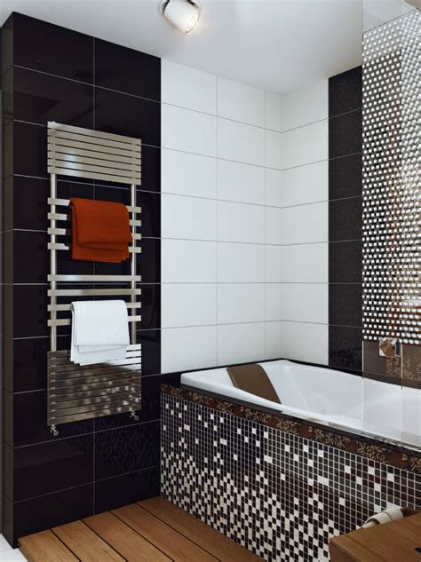 black white mosaic bathroom tile interior design ideas
