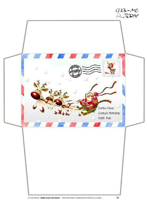 craft envelope letter  santa claus border sleigh