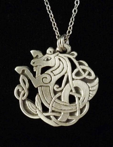 how to make celtic jewelry celtic seahorse necklace pendant celtic jewelry by