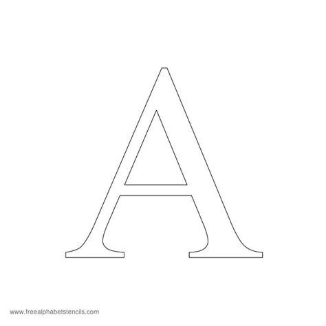 printable box letter stencils pin free stencils a z on pinterest