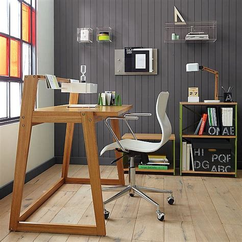 diy home office ideas with minimalist wooden desk and