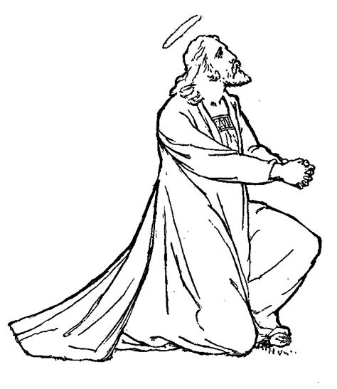 coloring page jesus praying in the garden garden of gethsemane coloring pages
