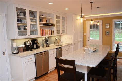 rockville md white kitchen remodel traditional