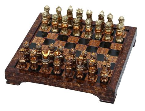 unique chess sets woodland import 39348 unique medieval chess set with game