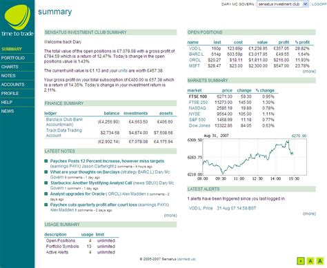 investment summary template summary tab overview timetotrade