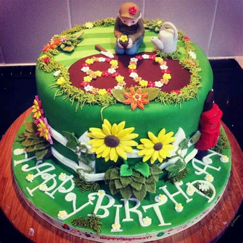15 Best Cakes Gardens Gardening Images On Pinterest Flower Garden Cake Ideas