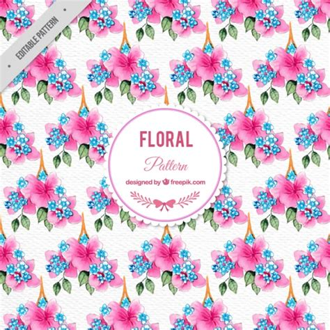 pink watercolor pattern watercolor pink flowers pattern vector free download