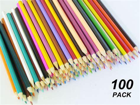 100 colored pencils bulk 100 pack coloured pencils ebay