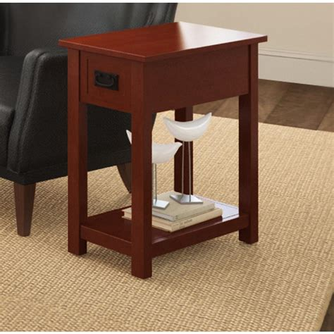 cherry end tables with storage alaterre furniture cherry storage side table amia1360