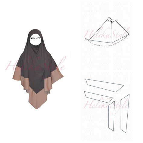 hijab pattern online how to make khimar hijab longer helikastyle sewing