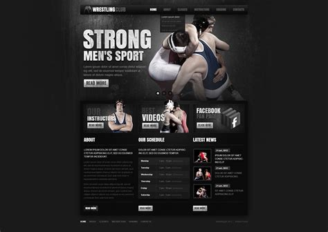 templates bodybuilder for photoshop download bodybuilding website template 38804 by wt website templates