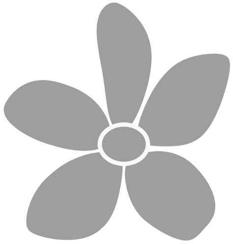 stencil fiore stencil fiore con 5 petali